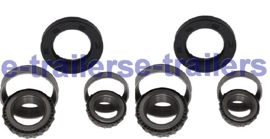 One axle bearings & seals - Bateson Tri axle Car Trailer 67048 44649 250.168.37