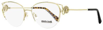 Roberto Cavalli Semi-Rimless Eyeglasses RC5052 Foiano 032 Gold/Black 54mm (Semi Rimless)