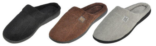 Maschismo Men's Slippers Cozy Open Back Anti-Slip Winter House Shoes TPR Sole