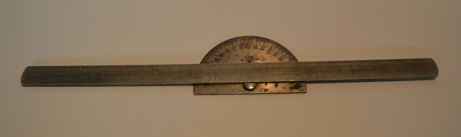 The L.S. Starrett No. 193 Vintage Protractor With Bar - $20.00