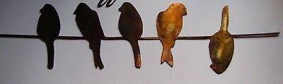 "Birds on a wire  Metal Wall Decor 22"" x 5 1/2"""