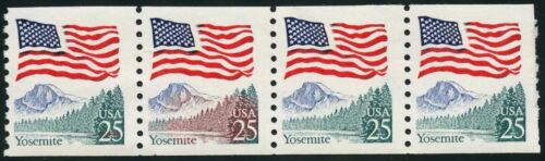 "#2279 Var. ""yosemite"" Strip Of 4 With ""burning Forest"" Error Bt5734"