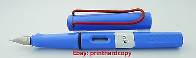 LIMITED EDITION LAMY SAFARI SKY BLUE with Red Clip Fountain Pen Nice