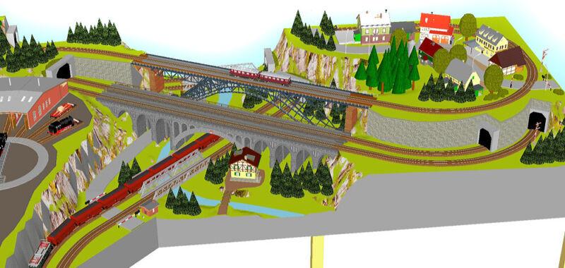 "GP2-0020 Märklin C-Gleis-Plan /""Neuffen/"" 200x115cm DIN A4-Mappe Color"