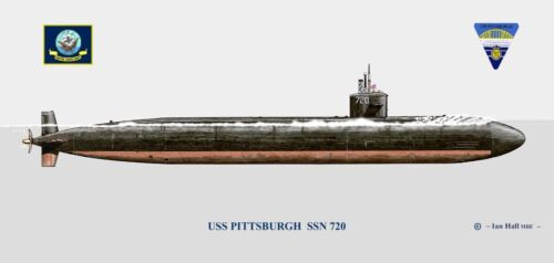 USS Pittsburgh SSN-720 Print US Navy