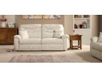 SCS 'CASPER' 3 SEATER MANUAL RECLINER SOFA-DELIVERY POSSIBLE-AS NEW IN PACKAGING