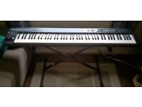 M-Audio Keystation 88 II, 88-Key USB/MIDI Keyboard Controller with Velocity-Sensitive Keys