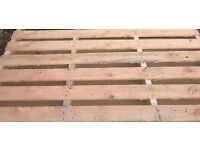 50 one tonne 5foot Pallets used once ideal for shed, Diy, garden, etc