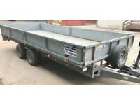 Ifor Williams 16ft x 6ft6inch twin axel flatbed trailer