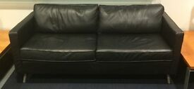 Leather Sofa, 2 seater, very good conndition. Free lamp when bought.