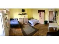 2 double beds in a spacious room