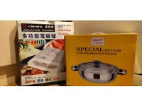 Induction cooker with Stainless steel pot (Used)
