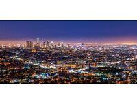 1 return ticket, Newcastle- Los Angeles, 18 Sep- 28 Sep