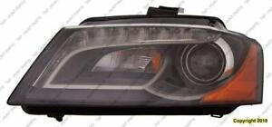 Head Lamp Driver Side Xenon Without Curve High Quality Audi A3 2009-2013