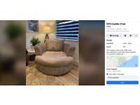 DFS swivel/cuddle chair
