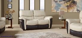 Saturn (SCS famous store) Fully Electric Reclining 3+2 Seater Full Leather Cream Brown