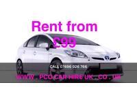 PCO CARS HIRE, PCO CARS RENTAL, PCO TOYOTA PRIUS LONDON, BIRMINGHAM PRIVATE HIRE READY