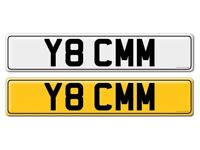 Y8 CMM CHERISHED NUMBER PLATE