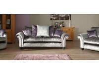 FABRIC/CRUSH VELVET SOFA LUXURY *MARYLAN SOFA* CHEAPEST PRICE 3+2/Corner sofa 928