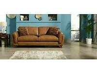Italian leather setee/sofa