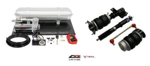 D2 Air Struts + Vera Basic Air Suspension Fits 2008+ Coupe Turbo Base R-spec