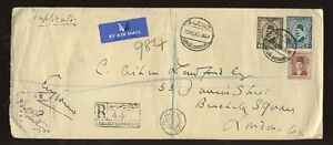 EGYPT-1940-AIRMAIL-REGIST-to-LONDON-LOCAL-GB-CENSORS-ABBASIA-BARRACKS-PMK