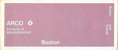 1971 ARCO Atlantic Richfield Road Map BOSTON Massachusetts Somerville Milton