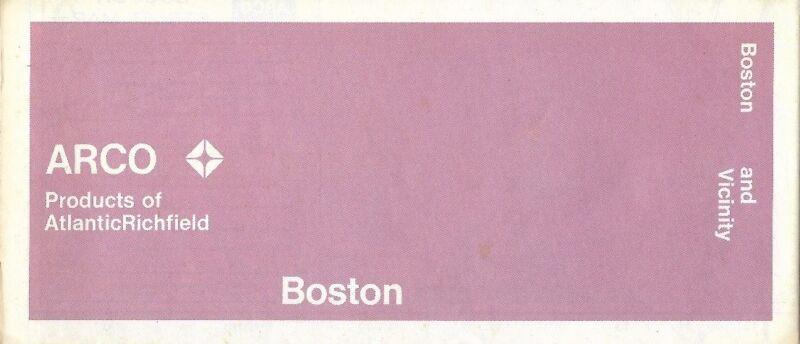 1971 ARCO Atlantic Richfield Road Map BOSTON Massachusetts Somerville Milton