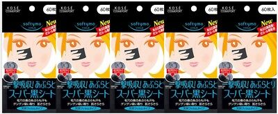 5 pcs Kose Softymo Super Oil Remover Clean Tissue Oil Blotting Paper from Japan