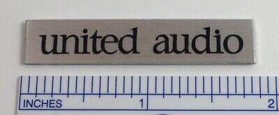 United Audio badge logo for Dual turntable - Metal