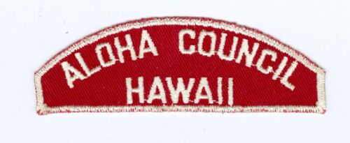 OLD Boy Scout Red & White Council Shoulder Patch (RWS) - Aloha Council / Hawaii