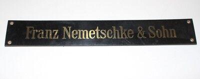 Shield Klavierbauer Piano Franz Nemetschke Son K. K. Court Purveyor Vienna