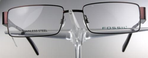 FOSSIL OF 1120 Brille Brillengestell Rot Edelstahl Damen Herren Eyeglasses NEU..