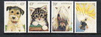 AUSTRALIA MNH 1991 SG1299-1302 DOMESTIC PETS SET OF 4