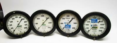 Lot Of 4 Ashcroft Assorted Psi Gauge - Steampunk