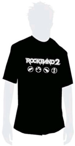 Rock Band 2 pre order limited edition T-shirt(L)