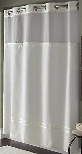 "Hookless Waffle Fabric Shower Curtain – 71"" x 74"""
