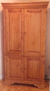 Armoire bois de chêne pour télé, bureau, garde-robe, rangements