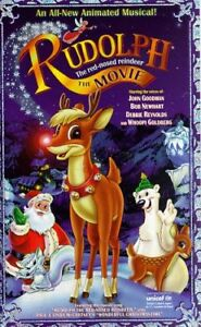 Rudolph-The Movie + Lion King VHS + book-Lot $5