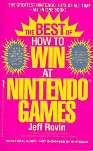 The Best of How to Win at NINTENDO Games by Jeff Rovin RARE book