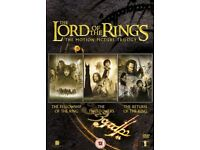 Lord of the Rings Trilogy DVD's