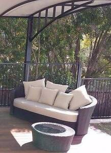 Outdoor Furniture Sofa Lounge Wicker Rattan Day Bed Patio Clyde Parramatta Area Preview