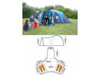 Vango Diablo 400 4 man dome tent with central area and porch