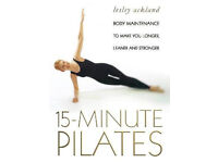 15 Minute Pilates by Lesley Ackland, paperback, good condition, to make you longer, leaner, stronger