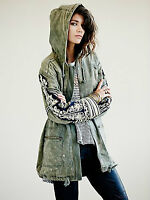 Free People Beaded Military Parka XS *Perfect Condition