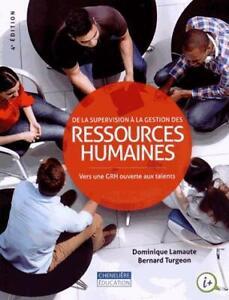 De la supervision à la gestion des ressources humaines, 4e éd