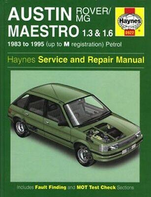 0922 Austin Rover MG Maestro 1.3 & 1.6 83 - 95 Haynes Service and Repair Manual