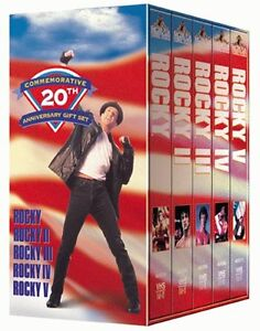 20th Anniversary Box Gift Set-5 Rocky movies VHS tape collection