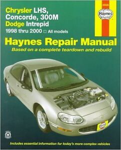 Haynes Repair Manual 1998 Chrysler Concorde 2.7l/3.2l/3.5l