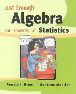 Just Enough Algebra for Students of Statistics  by Ronald I. Bre